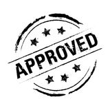 Rubber Stamp Approved Vector Illustration Royalty Free Stock Photos