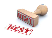 Rubber stamp-best Stock Image