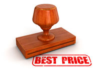 Rubber Stamp Best Price (clipping path included) Royalty Free Stock Image