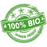 Rubber stamp 100% bio. And nature Royalty Free Stock Images