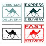 Rubber stamp with camel Stock Image