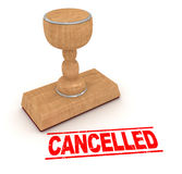 Rubber stamp - cancelled Stock Photos