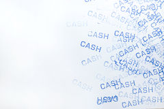 Rubber stamp cash pattern Royalty Free Stock Photos