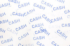 Rubber stamp cash pattern Royalty Free Stock Image