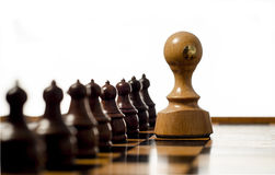Rubber Stamp and Chess Stock Photo