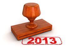Rubber Stamp 2013 (clipping path included) Royalty Free Stock Photography