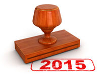 Rubber Stamp 2015 (clipping path included) Royalty Free Stock Photos
