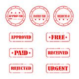 Rubber Stamp Collection Stock Photography