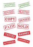 Rubber stamp collection Royalty Free Stock Photography