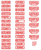 Rubber stamp colletction Royalty Free Stock Images