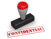 Rubber stamp - confidential Stock Photos