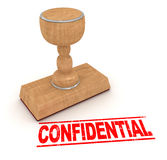 Rubber stamp - confidential Stock Photography