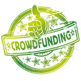 Rubber stamp crowdfunding. And financial help Royalty Free Stock Photos