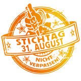 Rubber stamp with the date August 31. Royalty Free Stock Images