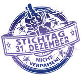 Rubber stamp date December 31. Rubber stamp dead line December 31 Royalty Free Stock Photo