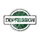 Rubber stamp with depression Stock Image