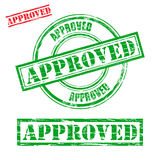Rubber stamp design APPROVED Stock Photography