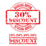 Rubber stamp design DISCOUNT Stock Images