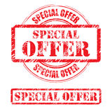 Rubber stamp design SPECIAL OFFER Stock Photography