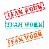 Rubber stamp design TEAM WORK Stock Photography