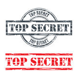 Rubber stamp design TOP SECRET Royalty Free Stock Image