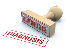 Rubber stamp-diagnosis Stock Photos