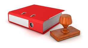 Rubber Stamp and Document Stock Image