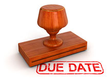 Rubber Stamp due date (clipping path included) Royalty Free Stock Image