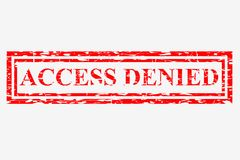 Rubber Stamp Effect, Access Denied, Isolated on White Royalty Free Stock Photos