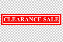 Rubber Stamp Effect : Clearance Sale, At Transparent Effect Background Royalty Free Stock Photo