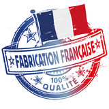 Rubber stamp fabrication francaise Stock Photography