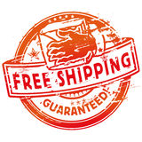 Rubber stamp free shipping Stock Photos