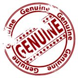 Round rubber ink stamp GENUINE