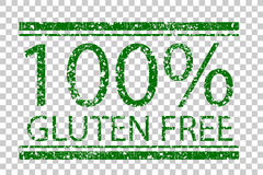 Rubber Stamp -  Gluten Free, green at transparent effect background Stock Image