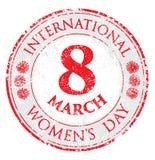 Rubber stamp grunge women`s day, vector illustration for 8 March stock illustration
