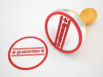 Rubber Stamp guarantee Royalty Free Stock Photo