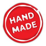 Rubber stamp hand made Royalty Free Stock Photo