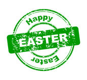 Rubber stamp with Happy Easter Royalty Free Stock Image