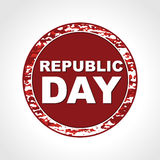 Rubber stamp having Republic Day text Royalty Free Stock Photos