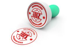 Rubber stamp of hundred percentage granted sign Royalty Free Stock Images