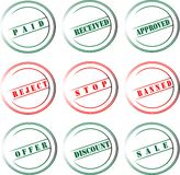 Rubber stamp icon Royalty Free Stock Photo