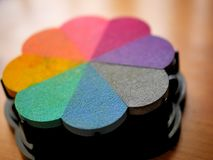 Rubber Stamp Ink in Rainblow Color Spectrum Royalty Free Stock Images