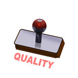Rubber stamp with inscription QUALITY Royalty Free Stock Images