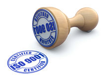 Rubber stamp with ISO 9001 - 3d illustration Stock Images