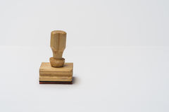 Rubber stamp on isolated background Royalty Free Stock Photography