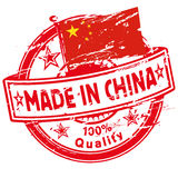 Rubber stamp made in China. And chinese industry Stock Photography