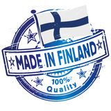 Rubber stamp made in Finland Stock Images