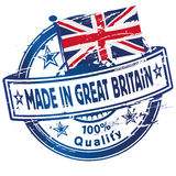 Rubber stamp made in Great Britain. And industries Royalty Free Stock Photos