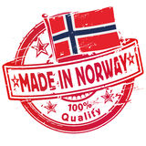 Rubber stamp made in Norway Royalty Free Stock Photo