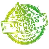 Rubber stamp March 31. And spring Royalty Free Stock Photo